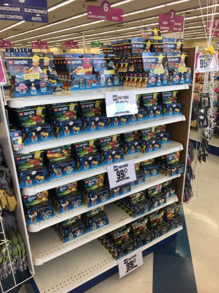 Lego Dimensions packs at 99 Cents Only Stores